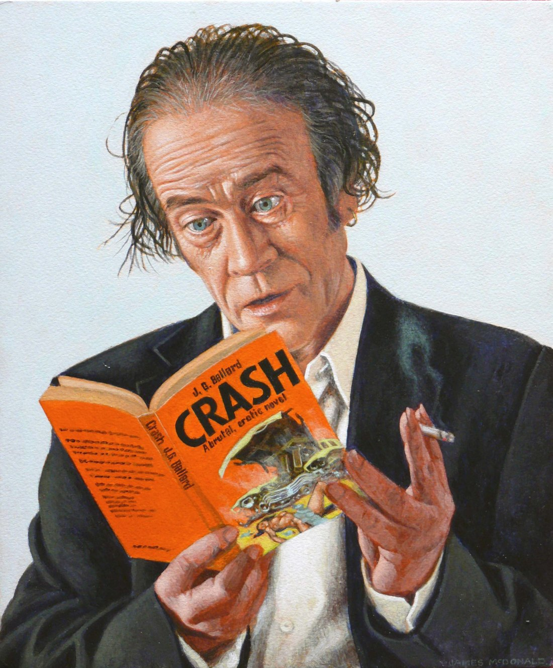 CRASH final version JAMES McDONALD Acrylic on Paper 12x10 inches 2015 post