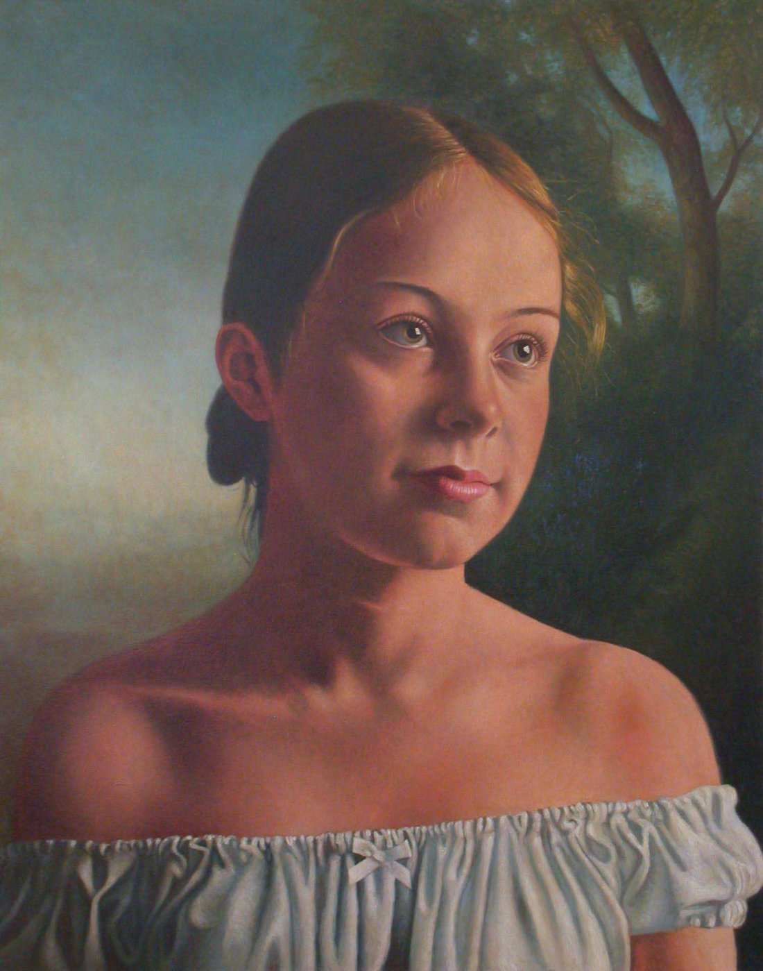 P BONNYBRIDGE GIRL oil 5x4.private collection,Salt Lake City