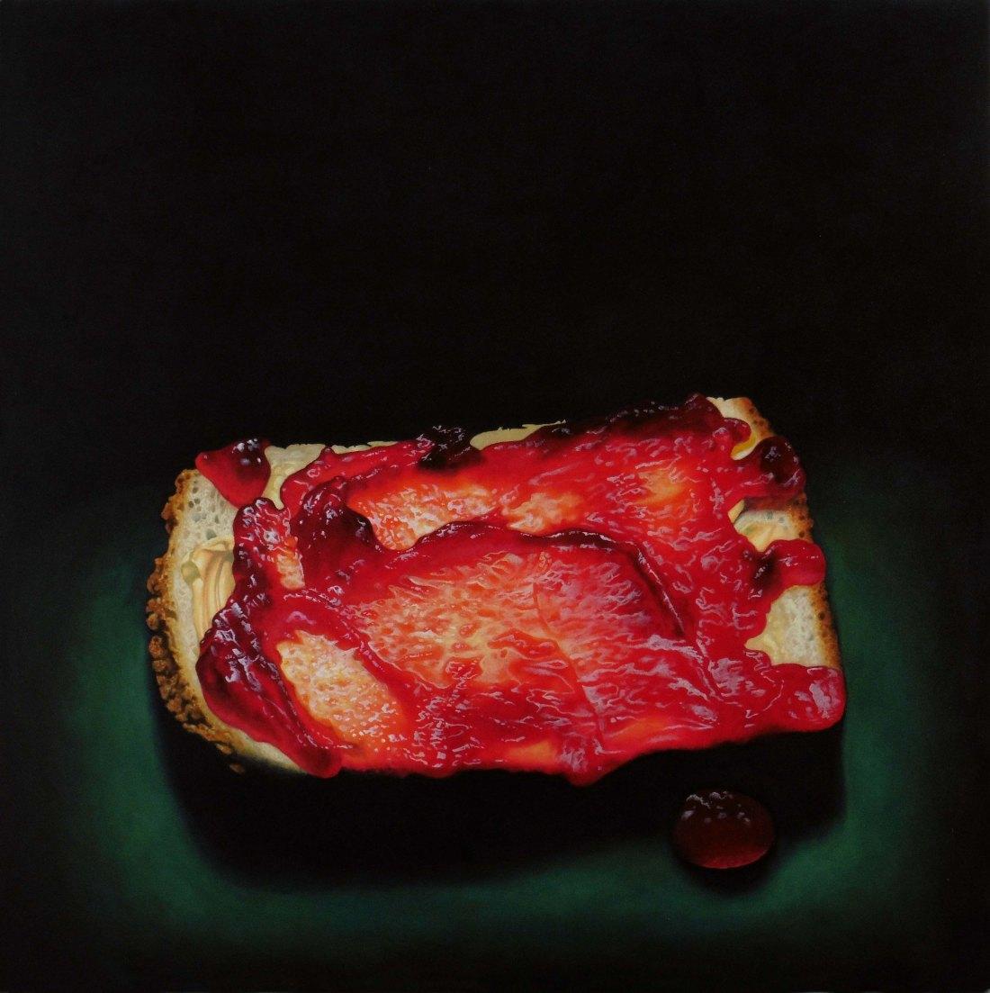 post BIG JAM PIECE 2 Oil on Canvas 5x5ft James McDonald 2015