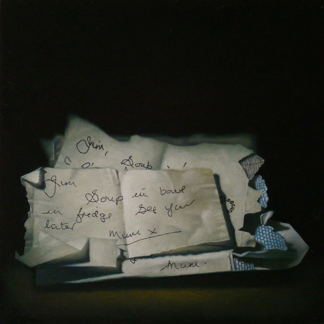 post Clare SOUP NOTES I 2012 Oil on Panel Private Collection