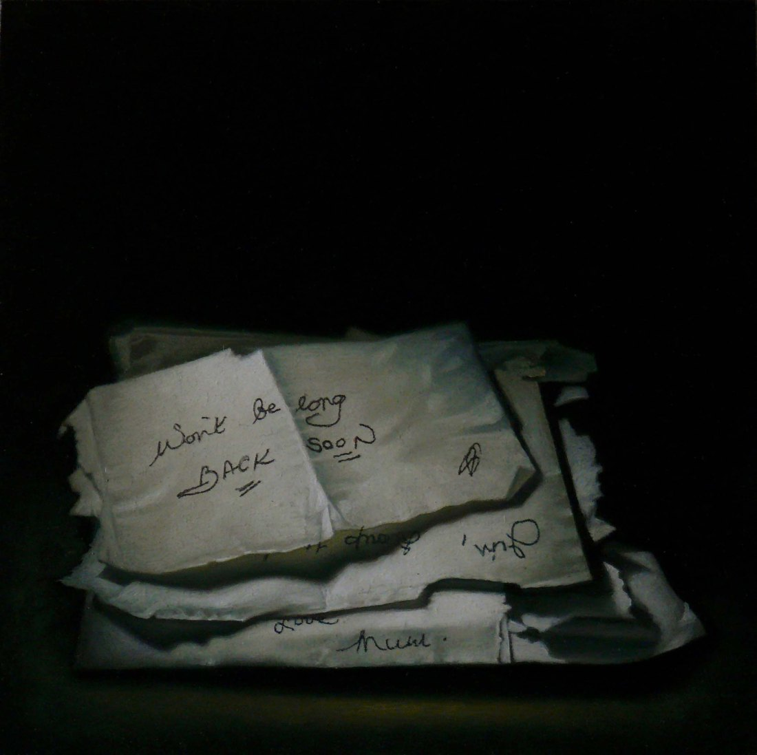 post clare SOUP NOTES II 2013 Oil on Panel Private Collection
